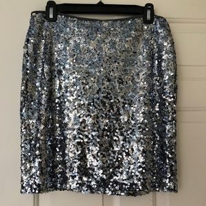 Black House/White Market Silver Sequence Skirt